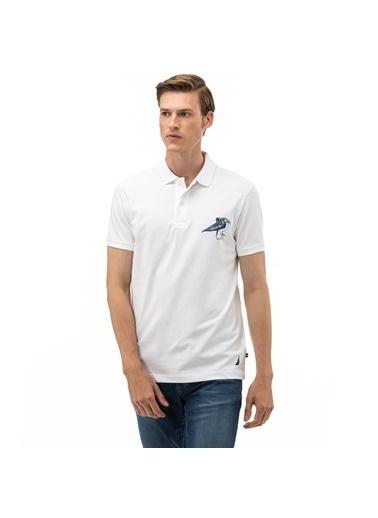Nautica Tişört Beyaz